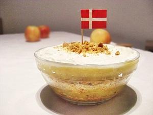 Dänisches Apfeldessert