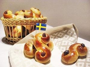 Lussebullar | Schwedische Safranbrötchen