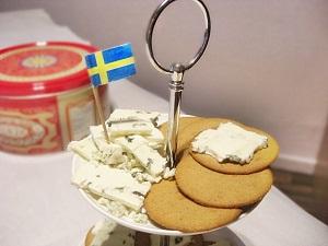 Schwedische Pfefferkuchen mit Blauschimmelkäse