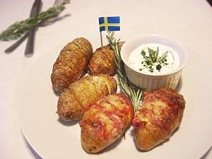 Schwedische Ofenkartoffeln frisch aus dem Ofen