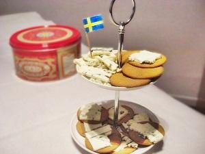 Schwedische Pepparkakaor mit Blauschimmelkäse