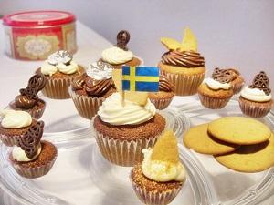 Schwedische Pepparkakor-Cupcakes