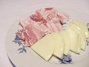 Speck und Käse