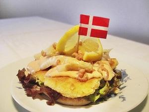 Stjerneskud - dänisches Smørrebrød mit Schollenfilet